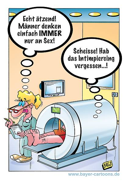 Cartoon von Stefan Bayer: MRT